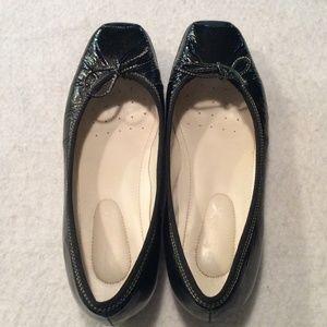 Geox Black Patent Ballet Flat Shoes size 5